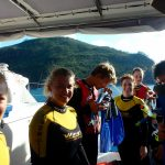 Preparing to go snorkelling