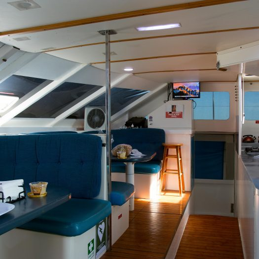 Common area in the middle of the boat.