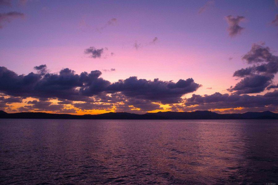 Sunset at whitsundays.