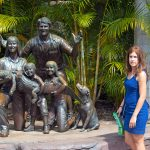 Irwin family. I don't know why people do this cast iron statues, they look grotesque.