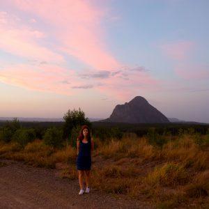 Nice sunset over Australia