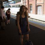 Waiting for train in Brisbane.