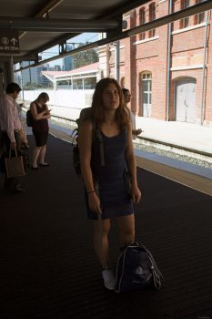 Waiting for train in Brisbane.