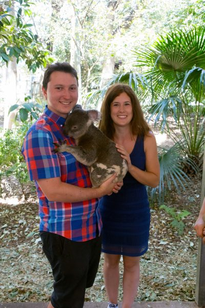 Me and Veronika posing with a koala. One of my favourite photos from the trip.