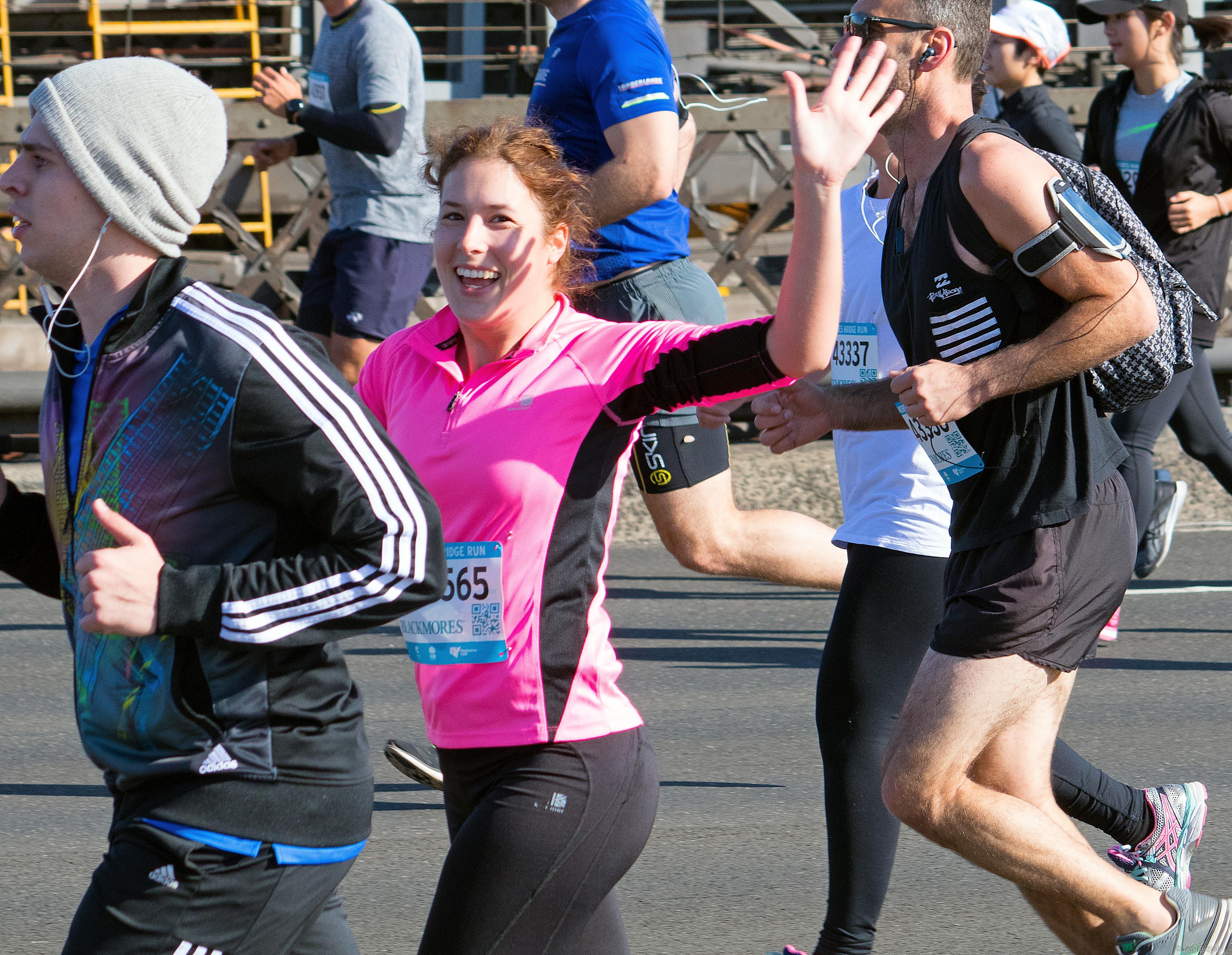 Veronika in Sydney's marathon.
