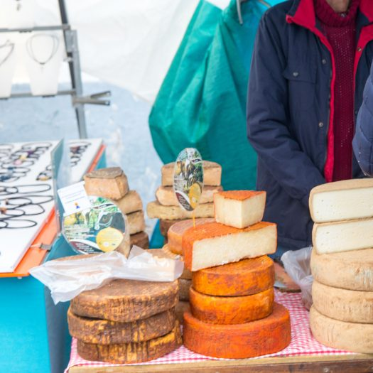 Cheese on market.
