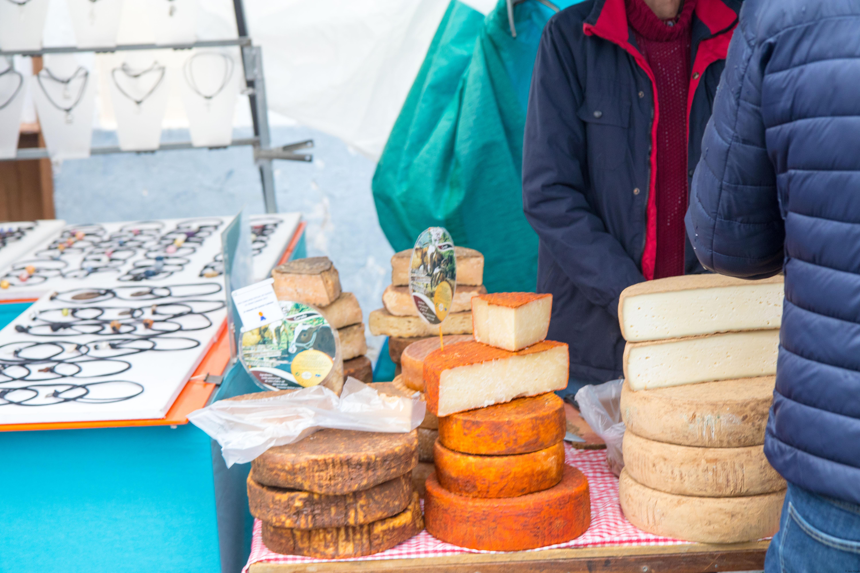 Cheese on market.