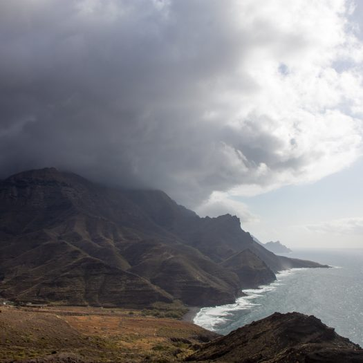 Strangely middle of the island was almost all the time covered by large dark clouds.