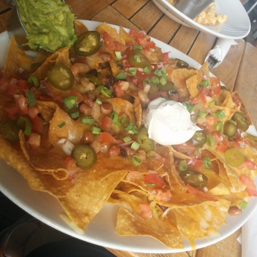 Nachos, we were afraid it's going to be to little .... needles to say we ate 1/4 of it.