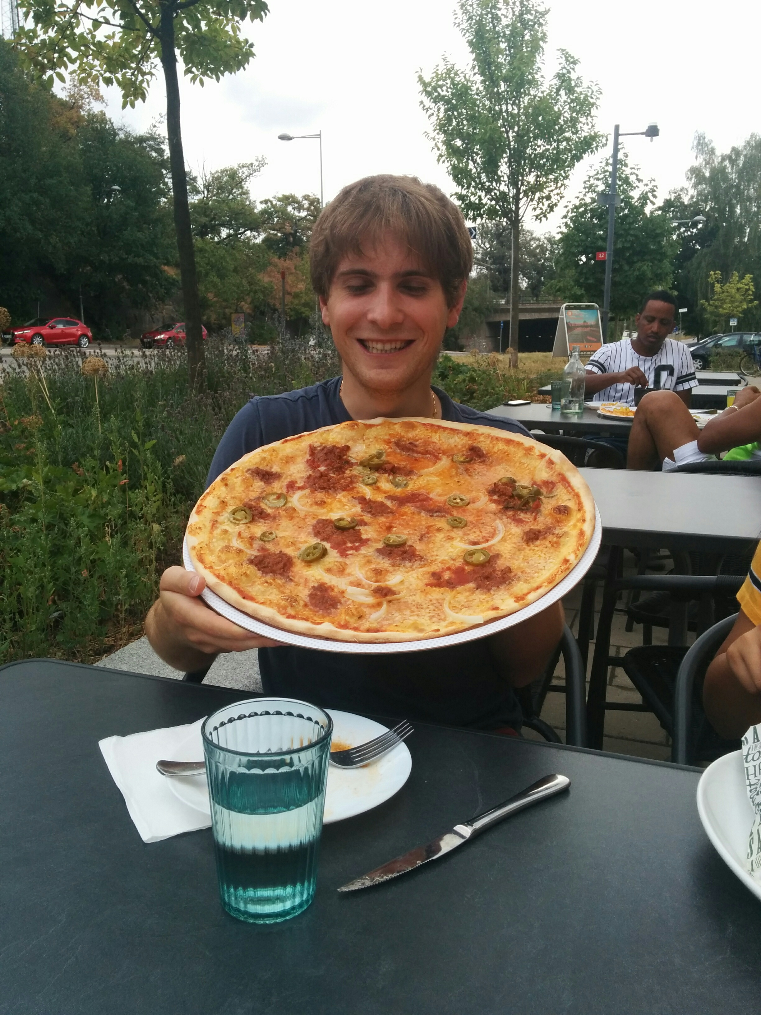 Giant pizza.