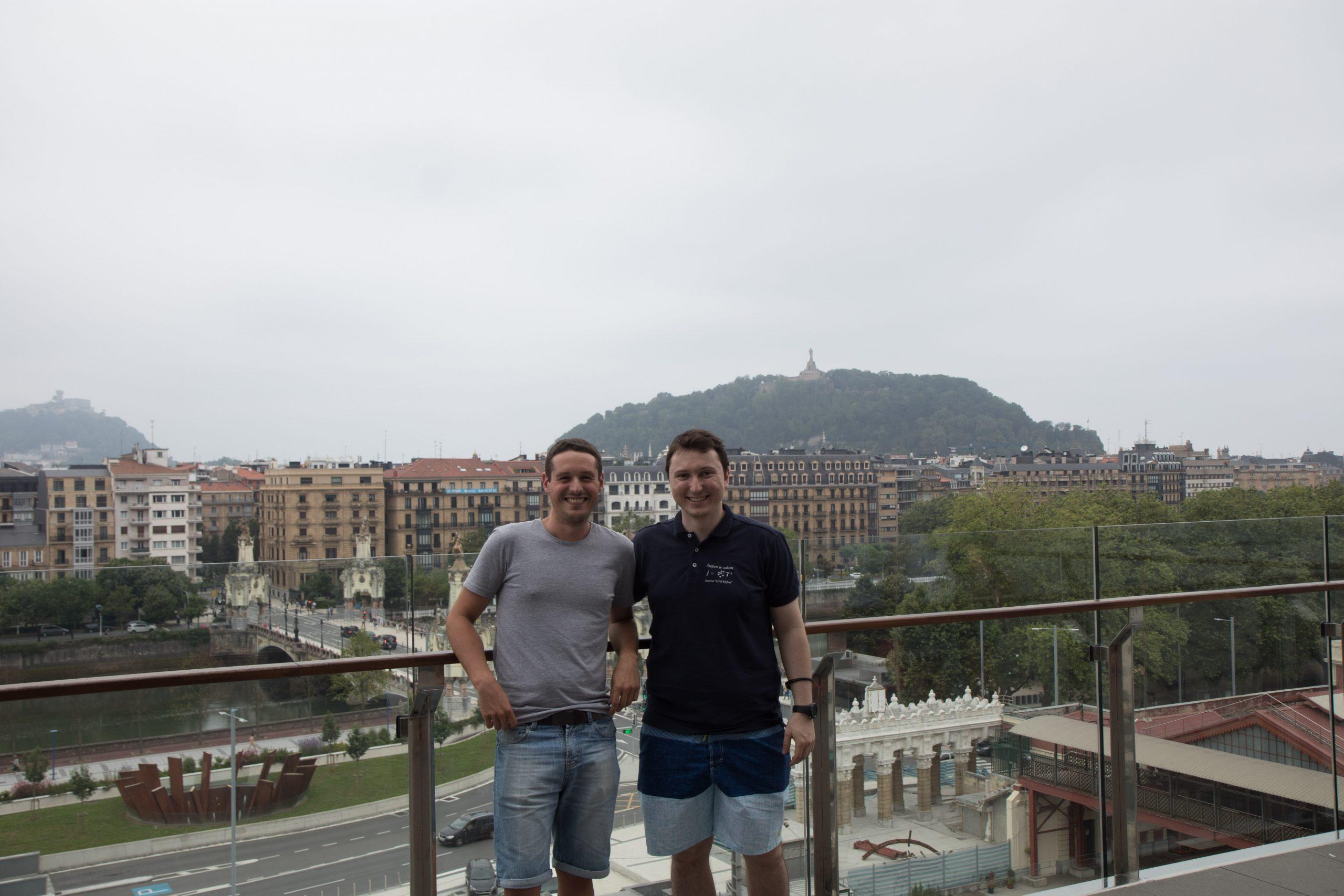 Mikel and I in San Sebastian, 2017