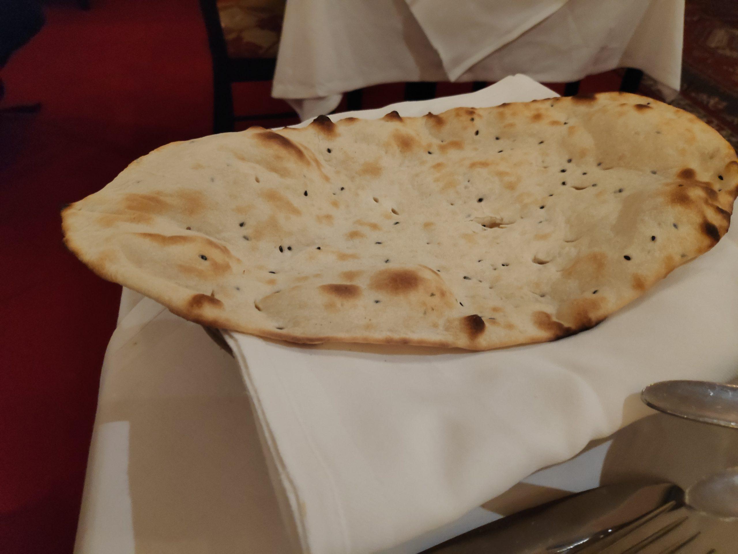 Gigantic flat bread.