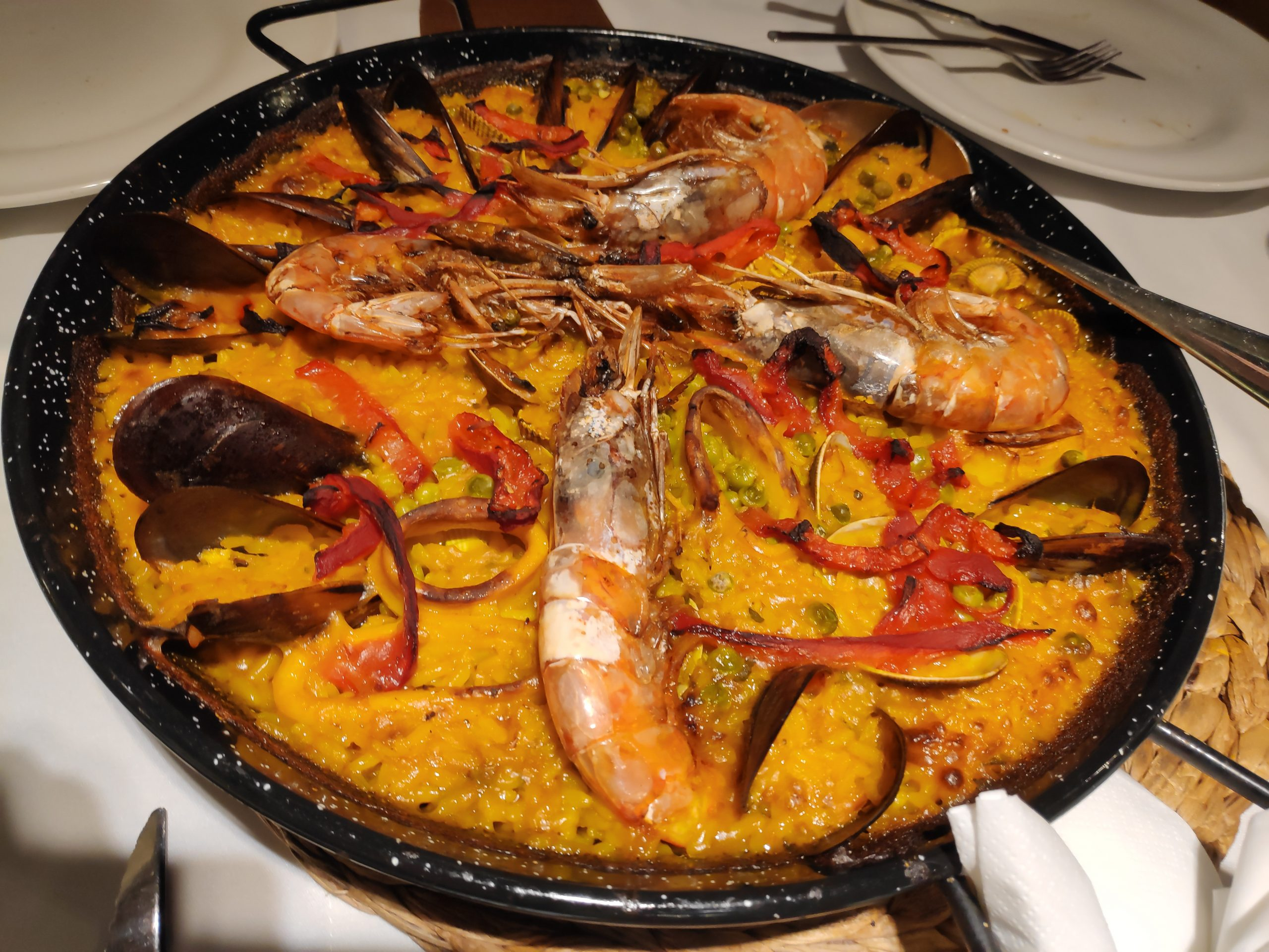 Infamous sea fruit paella, one of my favorite dishes in the world.