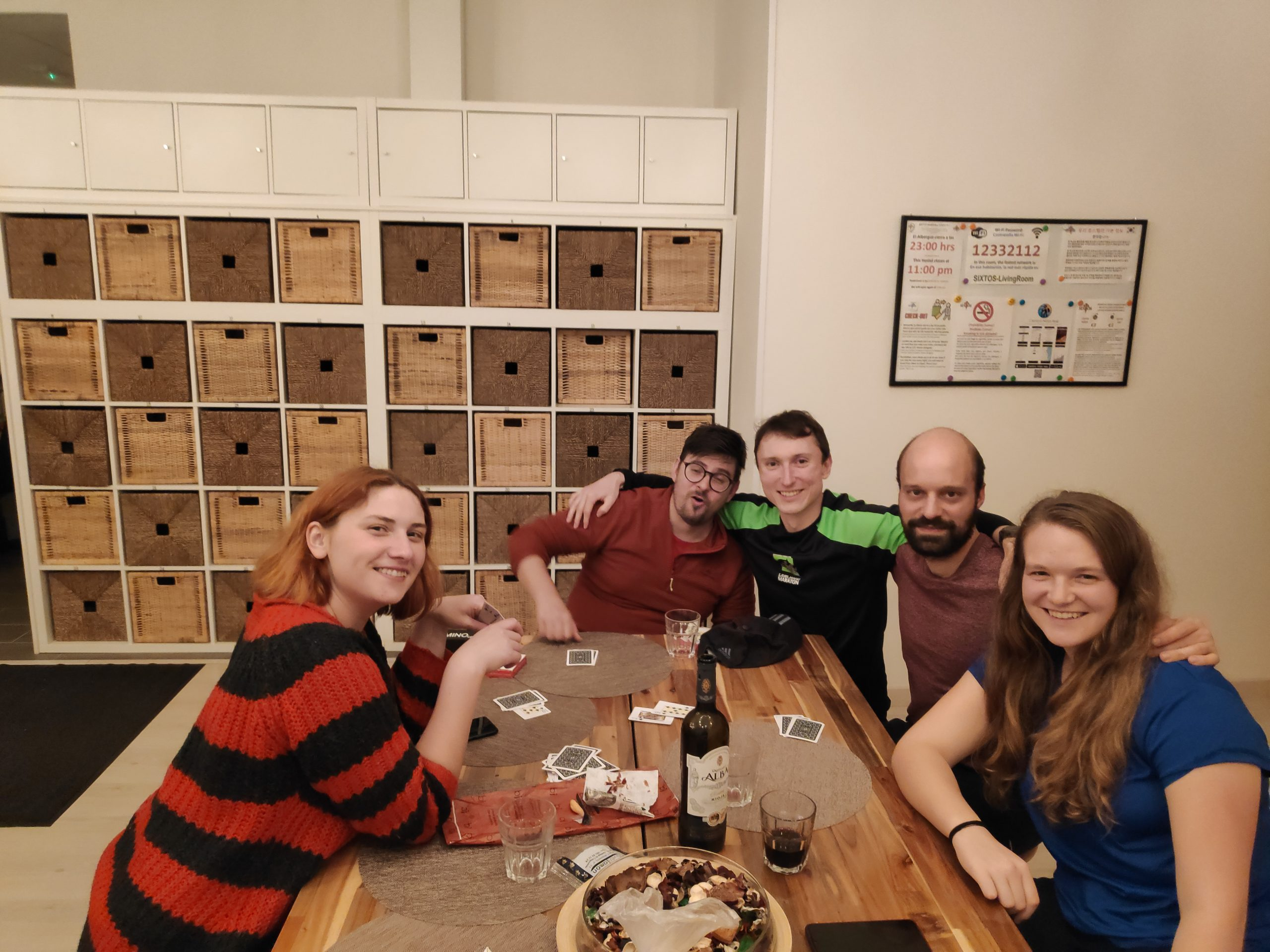 Last group photo before I went to bed. Because of course, what did Jakob do on the night, before walking 60 km? Well I don't know, but I can tell you what he did not do, sleep!