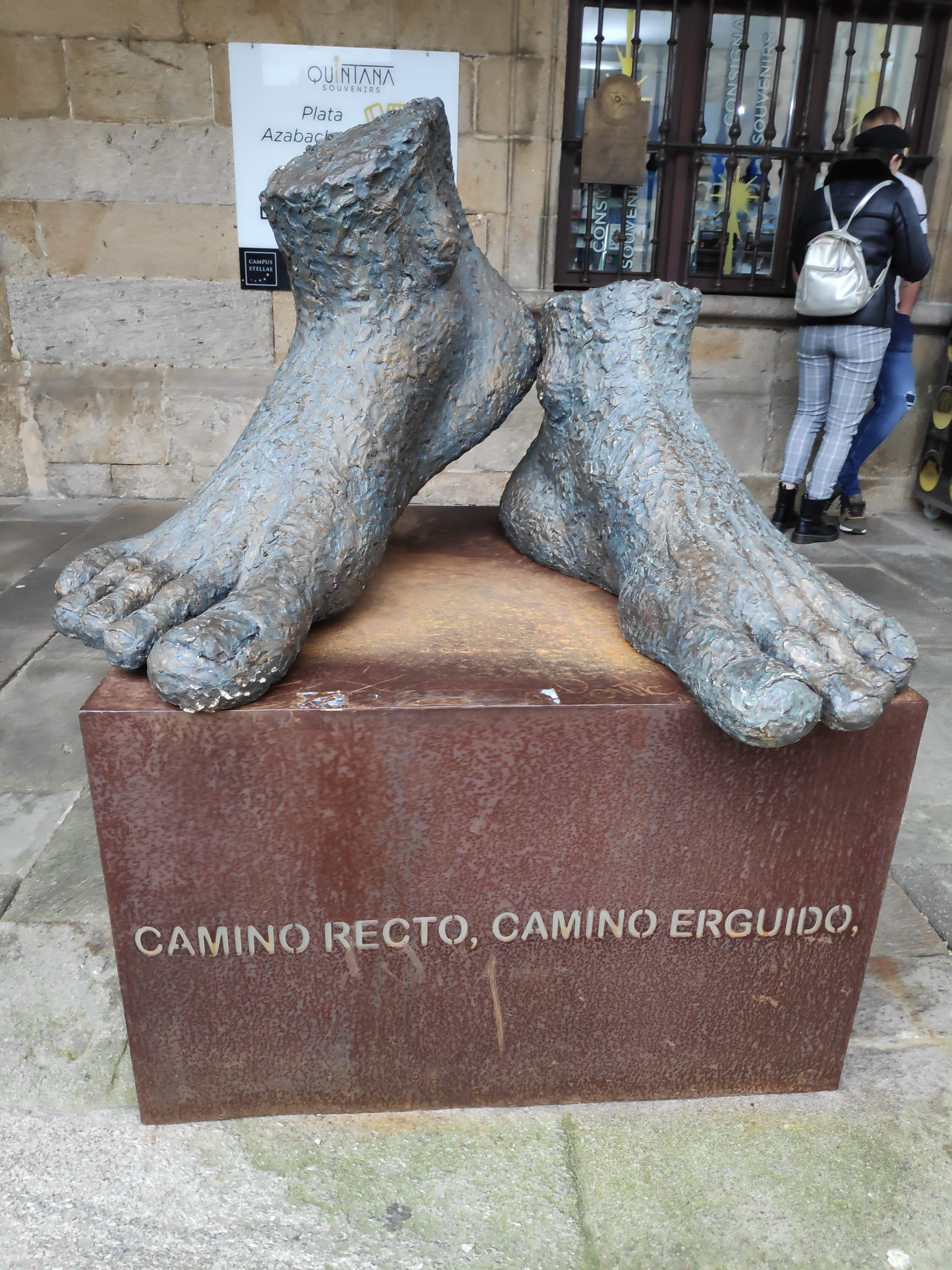Another interesting statue in Santiago.