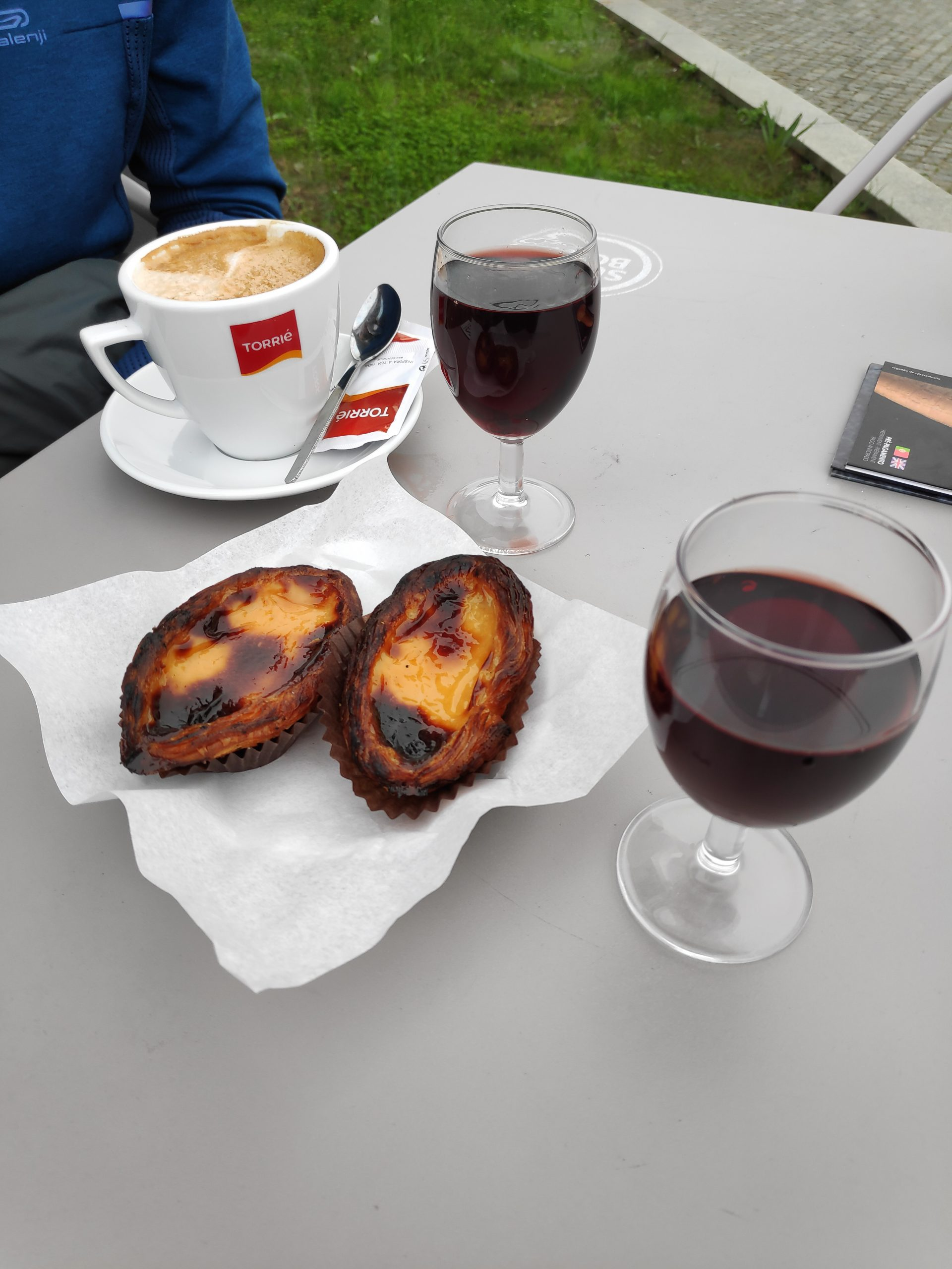 Pastel de nata, you can eat it for breakfast, lunch and dinner. They are really good.