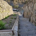 Some steep steps.