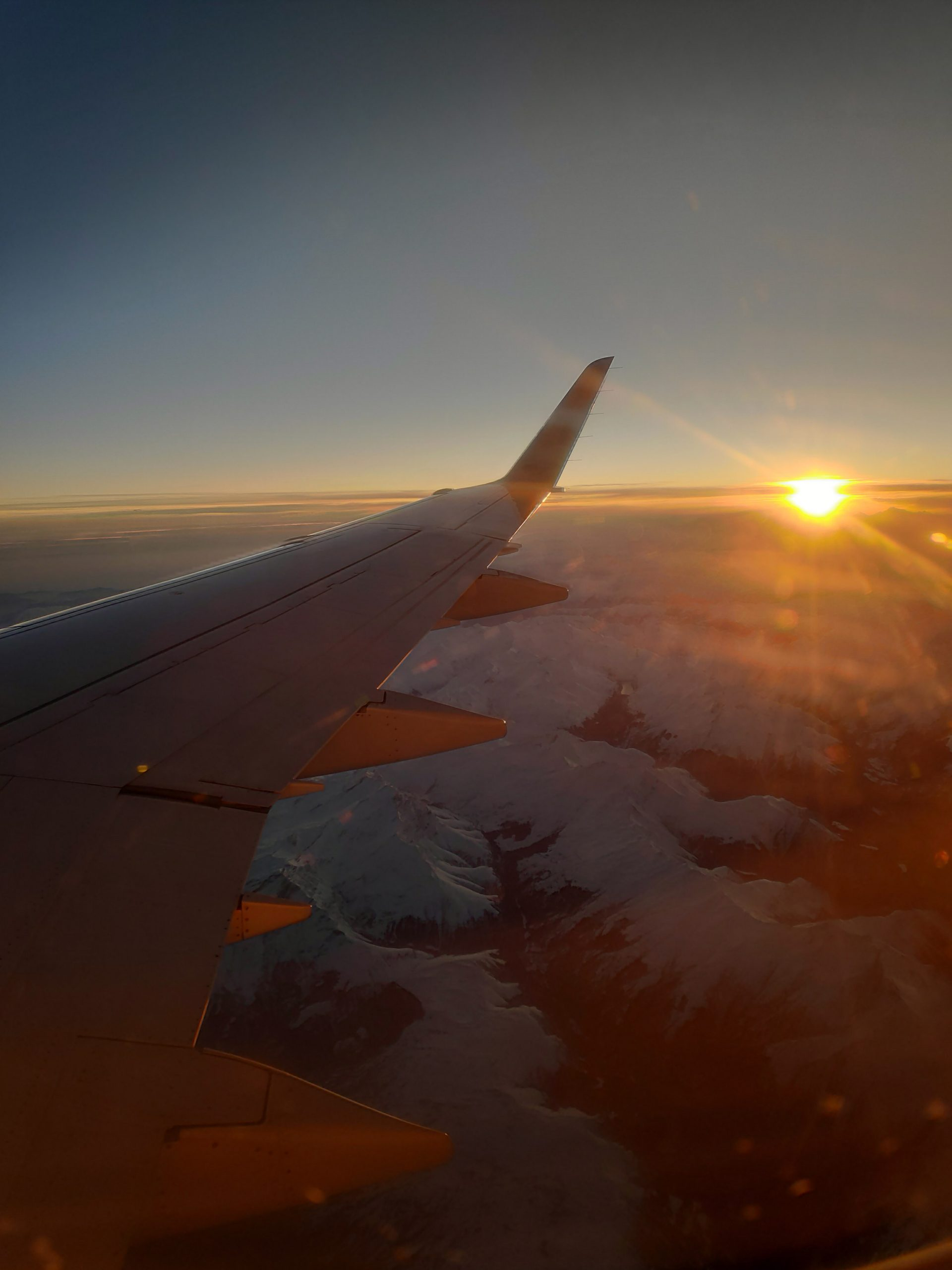 Really nice sunset over the snowy Alps.