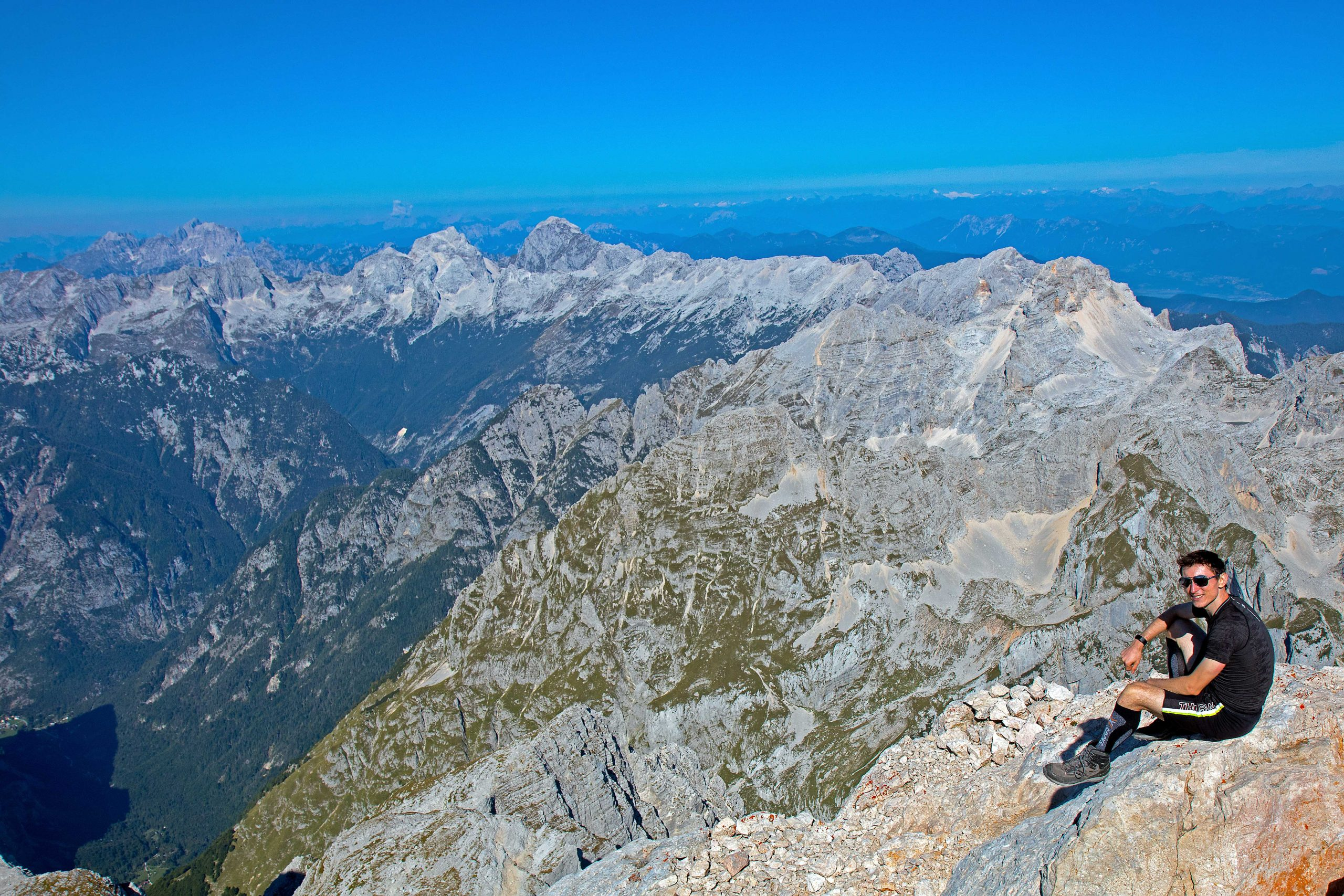 Views over the Italian/Austrian alpes