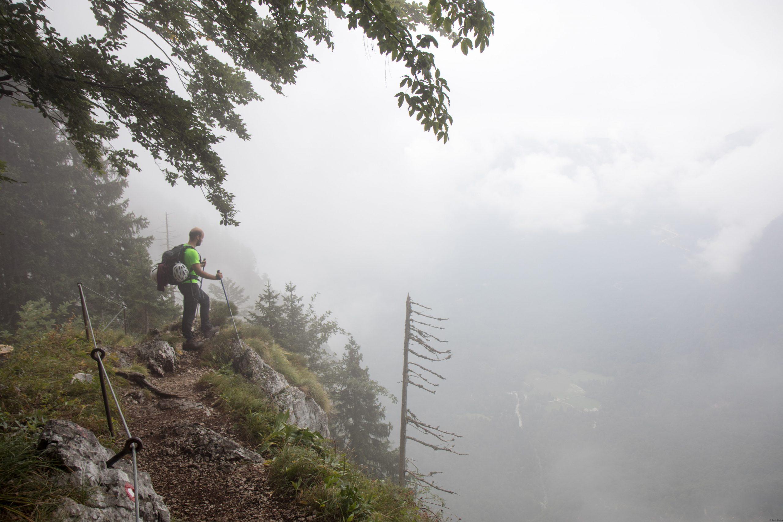Jakob at top of the komerča pass.