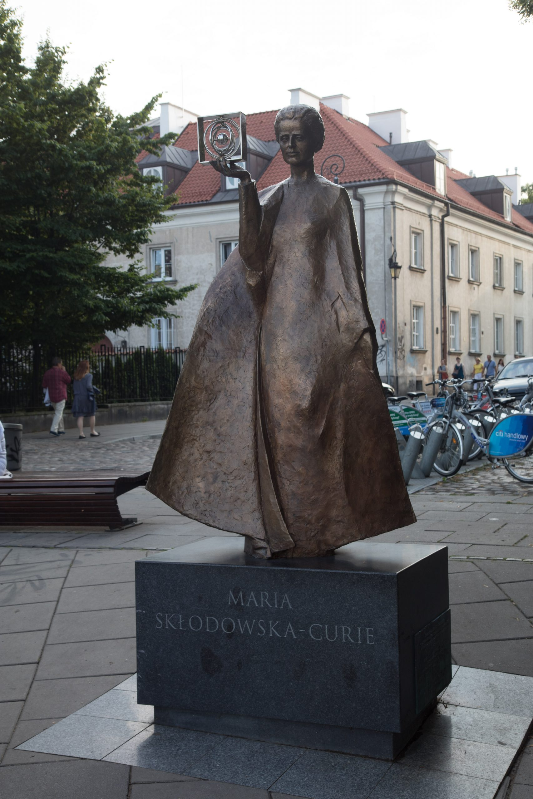 Marie Curie, I though she was French, but no, she was born in Warsaw.