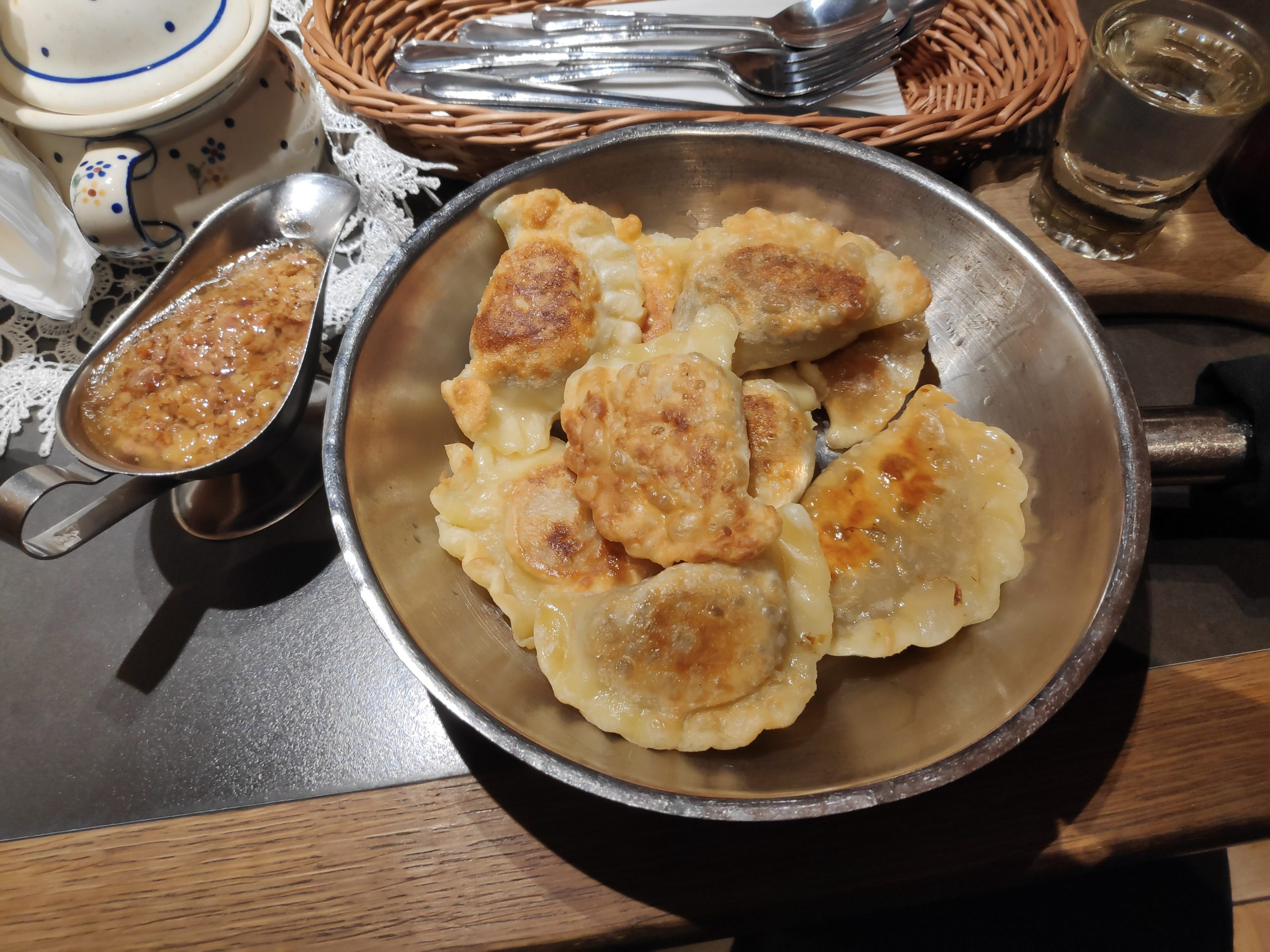 Fried pierogi, filled with different kind of meats and vegetables. The sauce on the left I think was melted butter/fat with something inside. Needles to say I came back 2kg heavier.